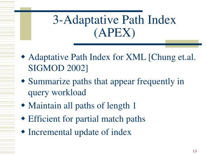 3-Adaptative Path Index (APEX)