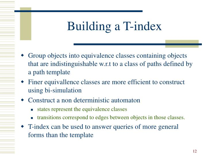 Building a T-index