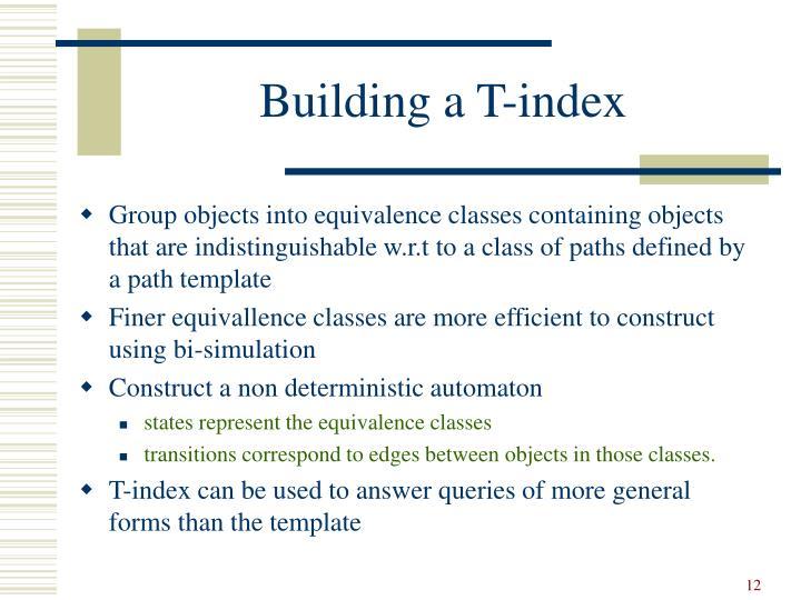 Building a T-index