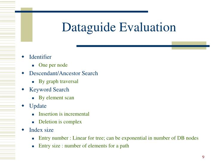 Dataguide Evaluation