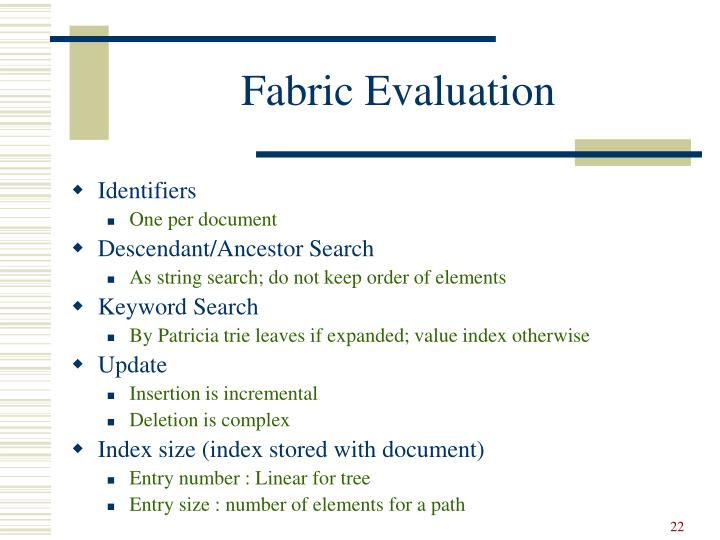 Fabric Evaluation