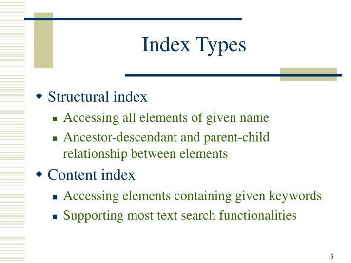 Index Types