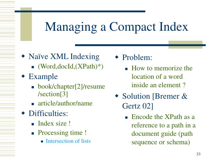 Naïve XML Indexing