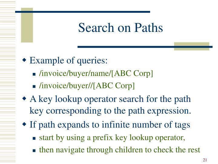 Search on Paths