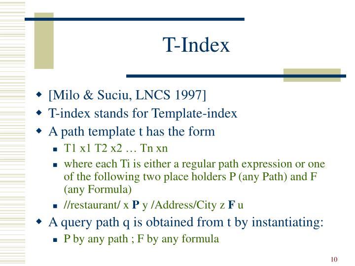 T-Index
