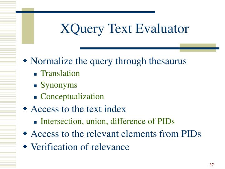 XQuery Text Evaluator
