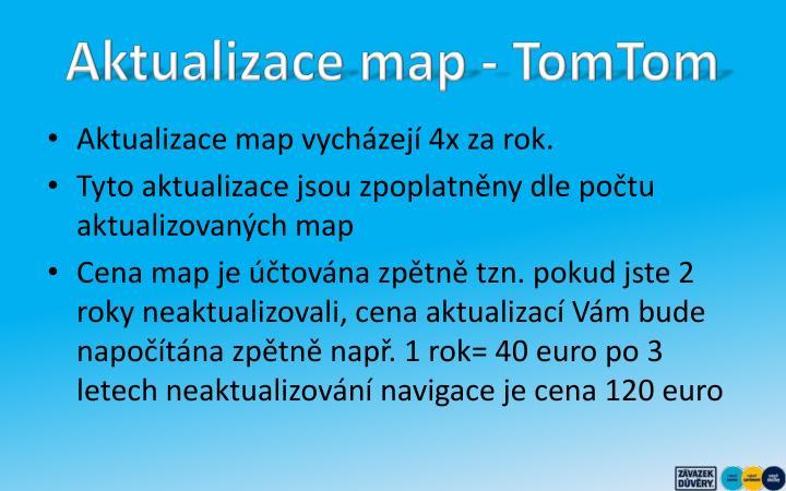 Aktualizace map - TomTom