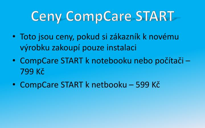 Ceny CompCare START