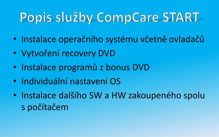 Popis služby CompCare START