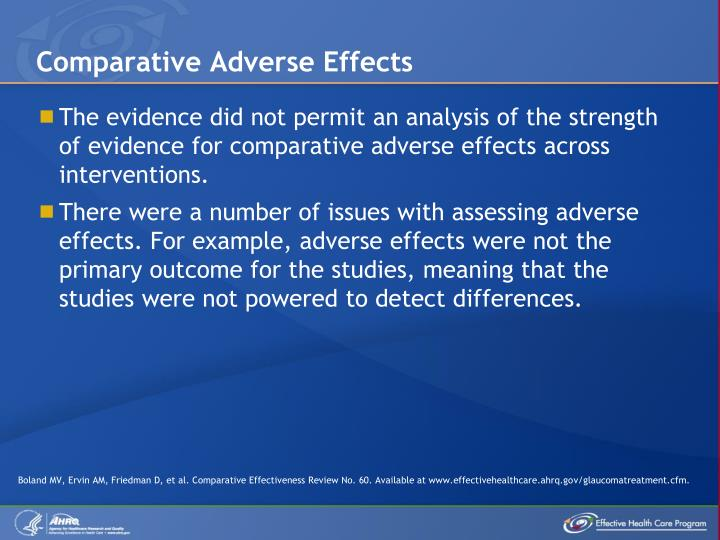 Comparative Adverse Effects
