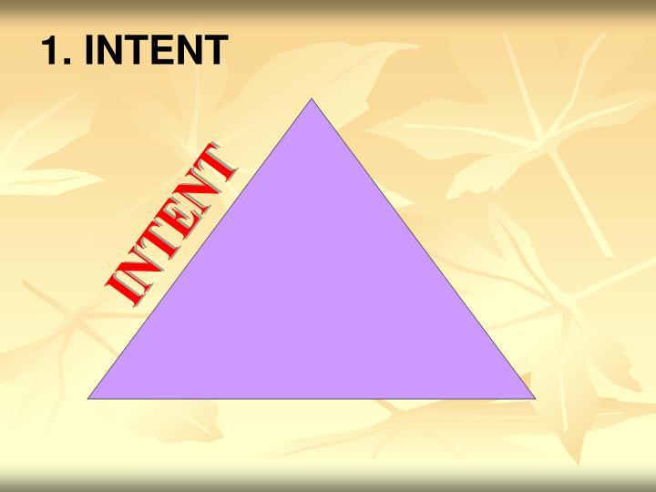 1. INTENT