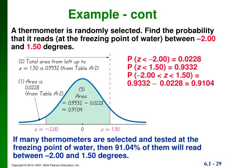 If many thermometers are selected and tested at the freezing point of water, then 91.04% of them will read between