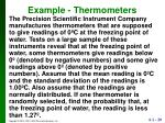 example thermometers