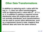 other data transformations