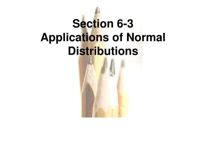 Section 6-3