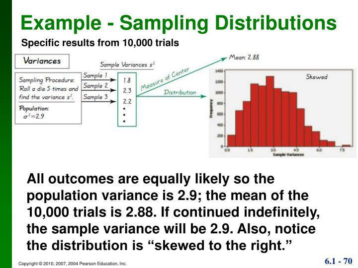 Example - Sampling Distributions