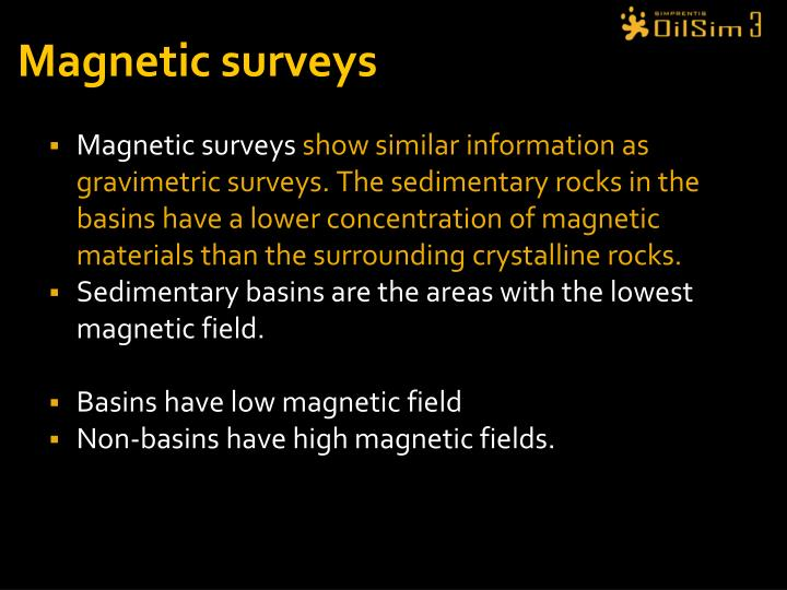 Magnetic surveys