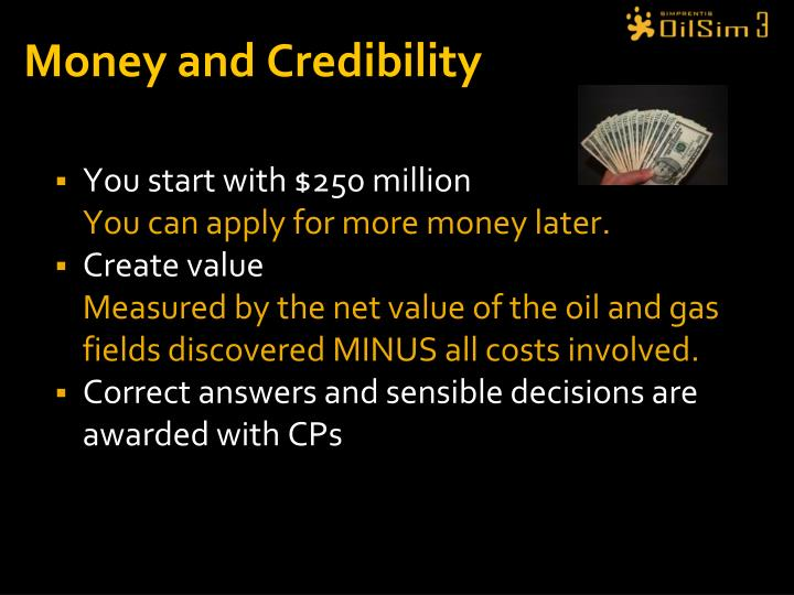 Money and Credibility