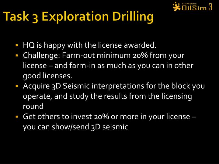 Task 3 Exploration Drilling