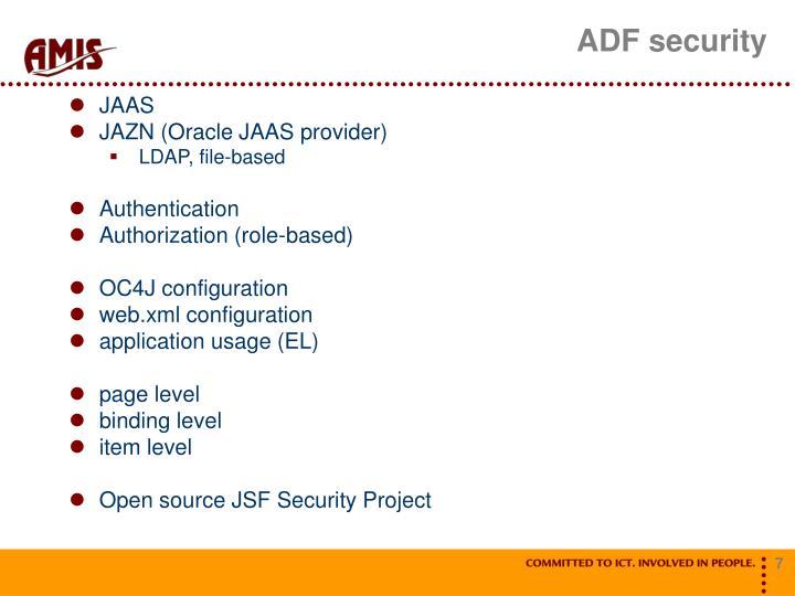 ADF security