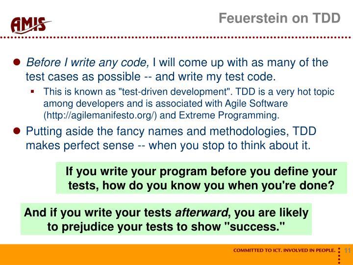 Feuerstein on TDD