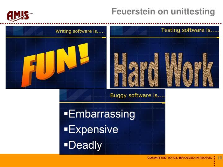 Feuerstein on unittesting