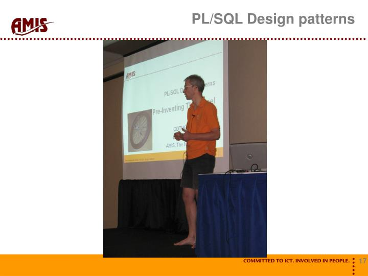 PL/SQL Design patterns