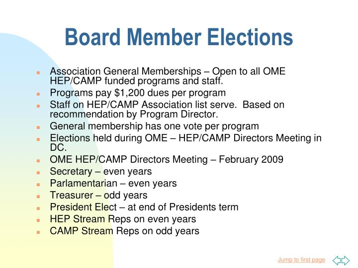 Board Member Elections