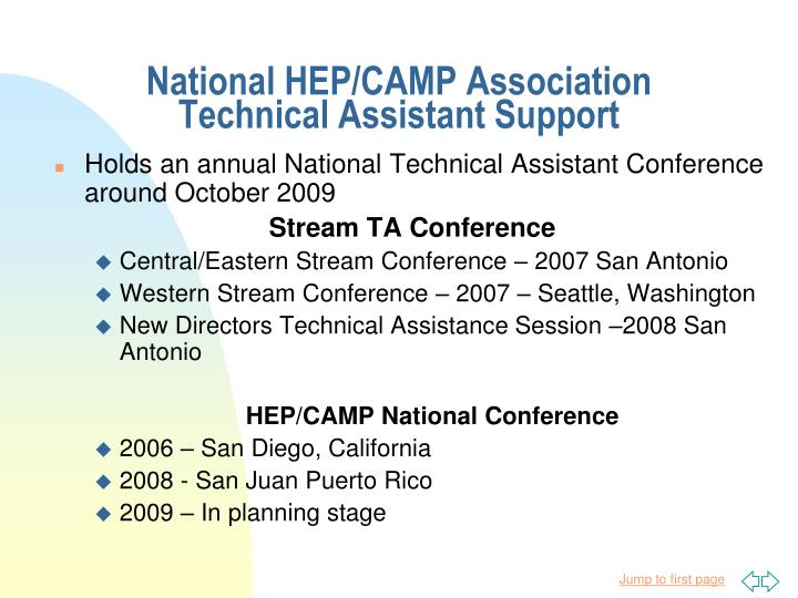 National HEP/CAMP Association
