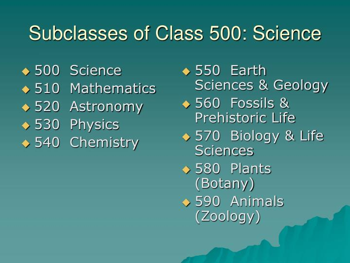 500  Science