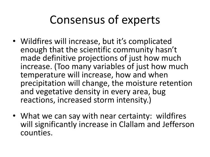 Consensus of experts