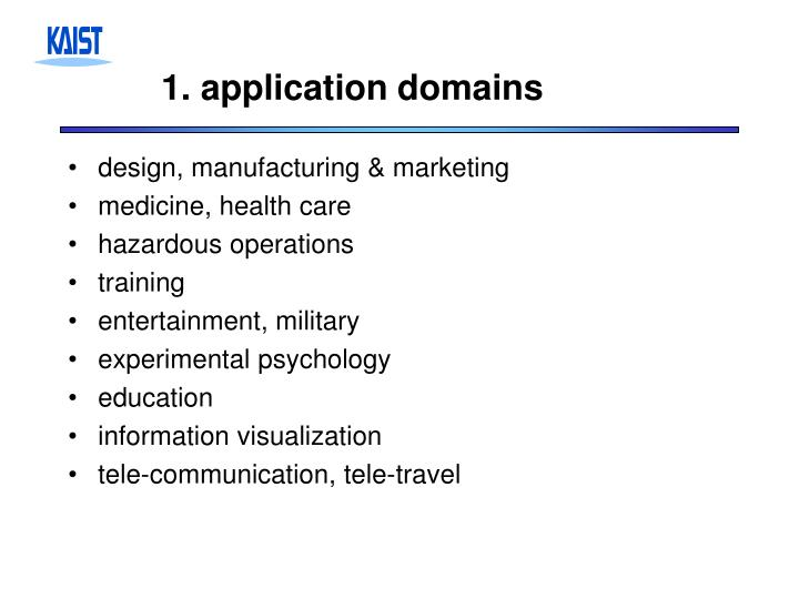1 application domains