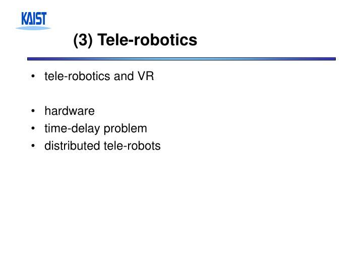 (3) Tele-robotics
