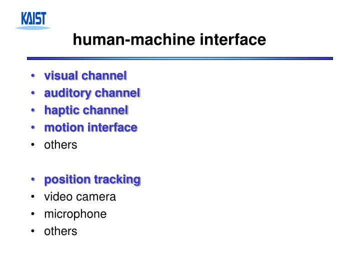 human-machine interface