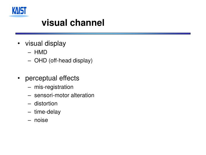 visual channel