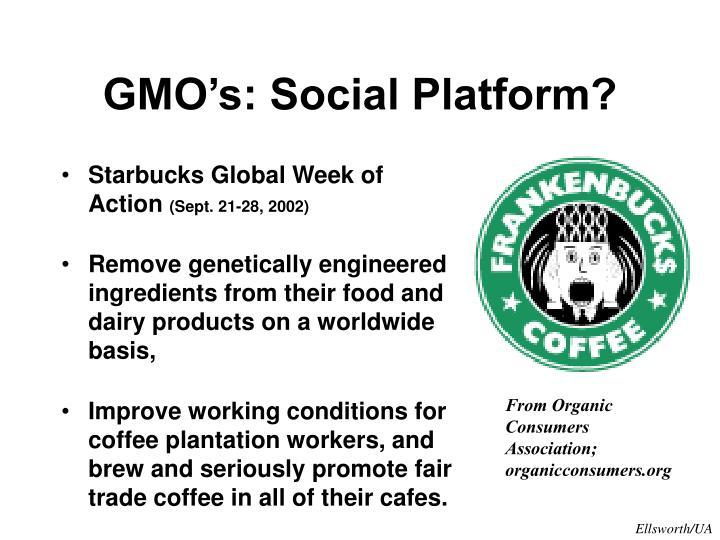 GMO's: Social Platform?