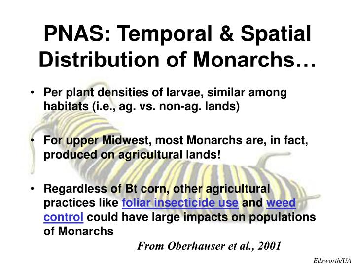 PNAS: Temporal & Spatial Distribution of Monarchs…