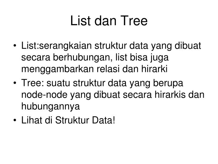 List dan Tree