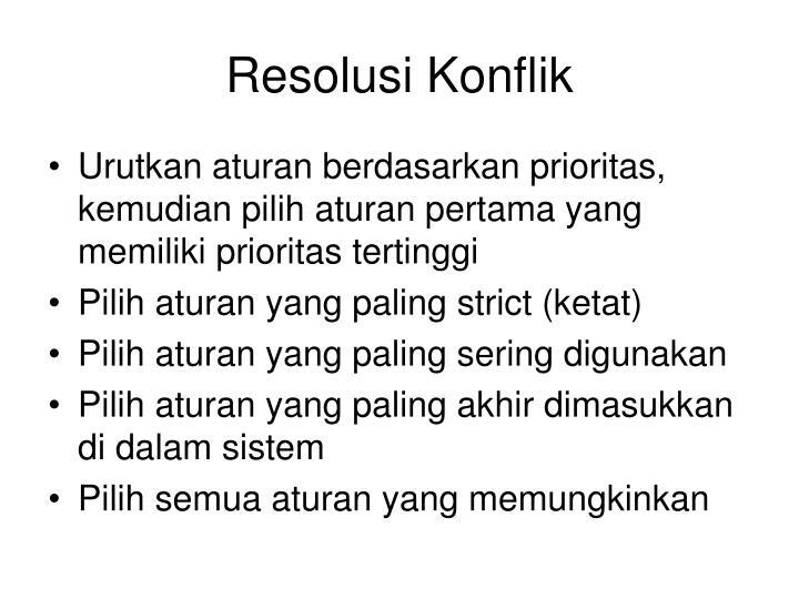 Resolusi Konflik