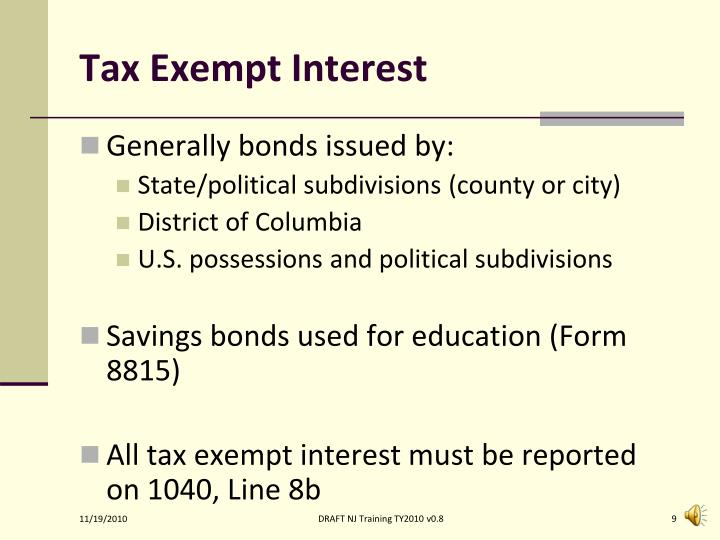 Tax Exempt Interest