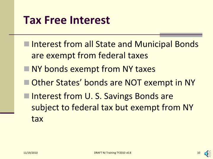 Tax Free Interest