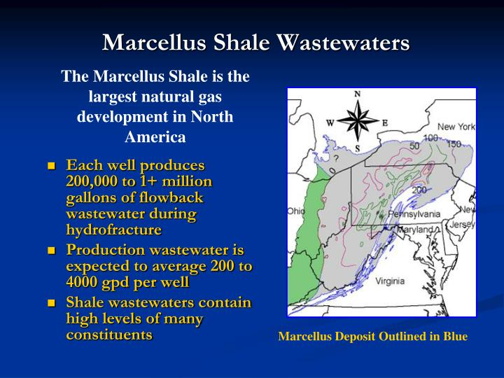 Marcellus shale wastewaters
