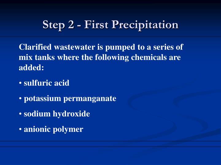 Step 2 - First Precipitation