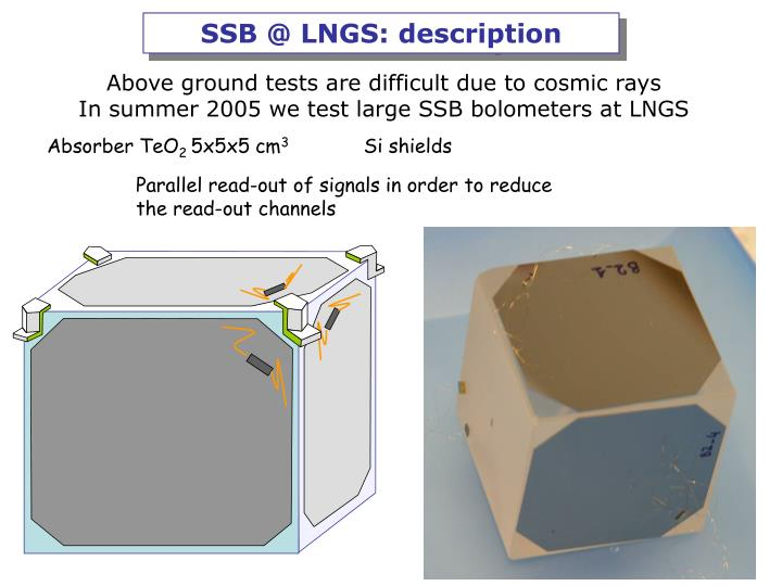 SSB @ LNGS: description