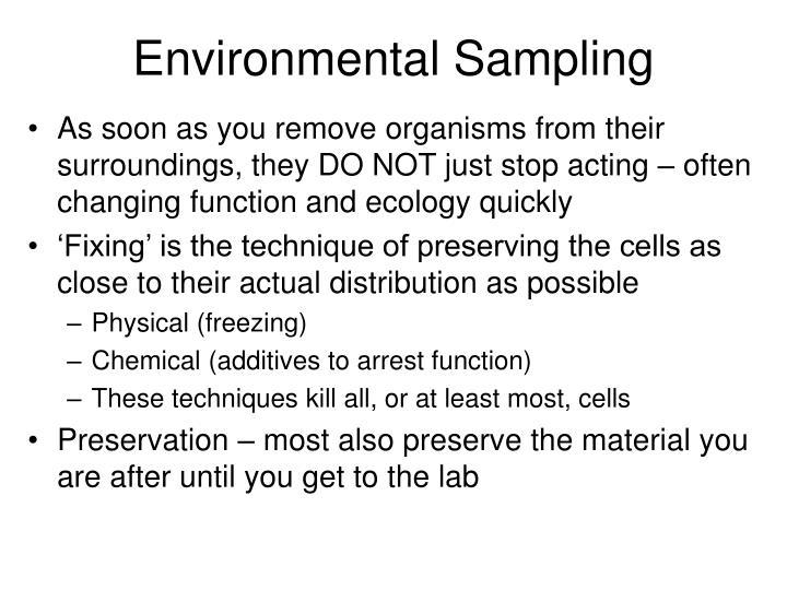 Environmental Sampling