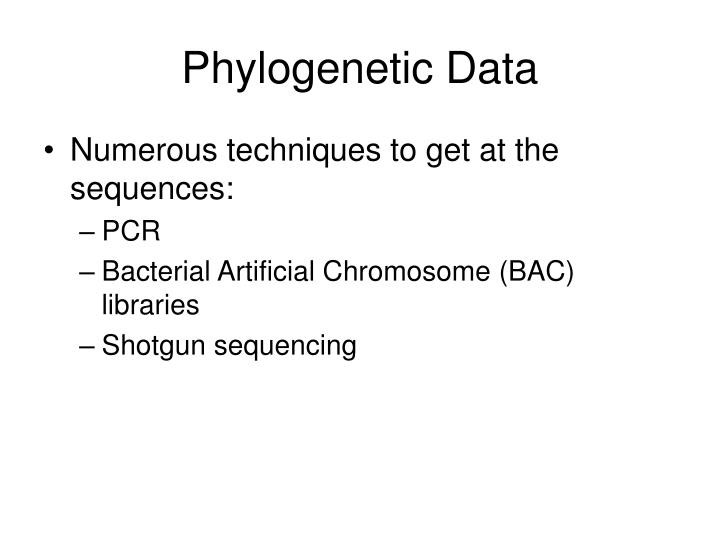 Phylogenetic Data