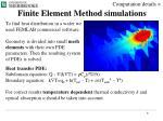 finite element method simulations