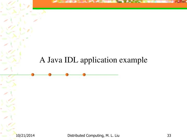 A Java IDL application example