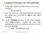 compiling and running a java idl application