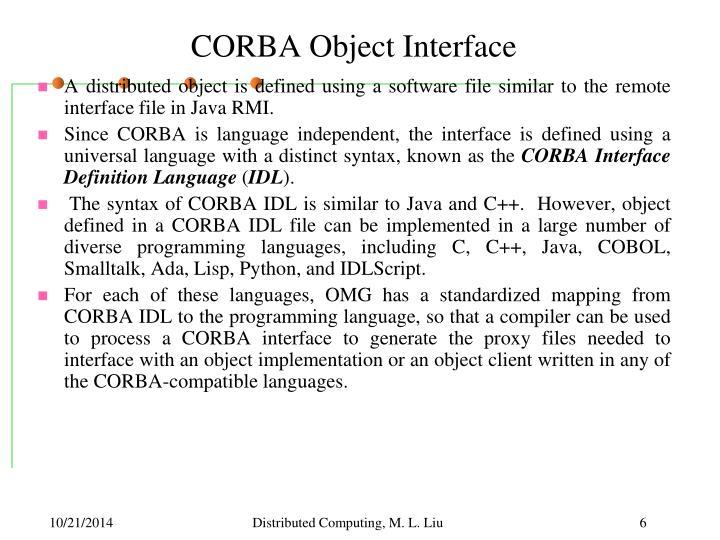 CORBA Object Interface
